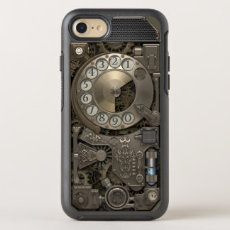 Steampunk Rotary Metal Dial Phone. OtterBox Symmetry iPhone 8/7 Case