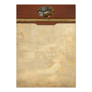 Steampunk - RR - The train dispatcher 13 Cm X 18 Cm Invitation Card