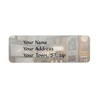 Steampunk - RR - The train dispatcher Return Address Label