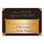 "Steampunk RSVP Card 3.5"" X 5"" Invitation Card"