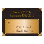 Steampunk RSVP Card Personalized Invite