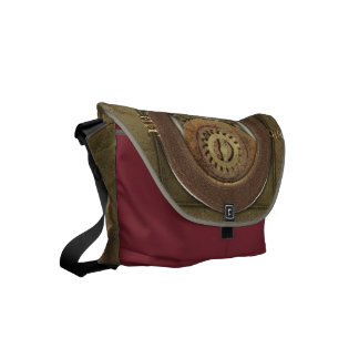 Steampunk Rusty Cogs Courier Bag