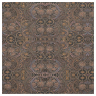 Steampunk Rusty Cogs Fabric