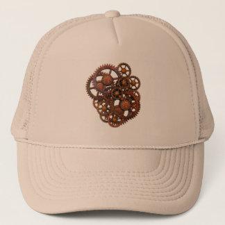 Steampunk Rusty Metal Gears With Shadows Trucker Hat