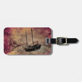 Steampunk Sailboat Luggage Tag Custom