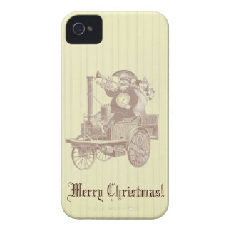 steampunk santa claus on steam engine iPhone 4 cover
