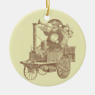 Steampunk Santa - vintage merry christmas Christmas Ornament