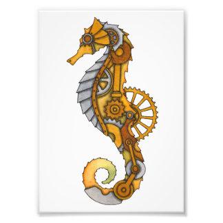 Steampunk Seahorse Photo Print