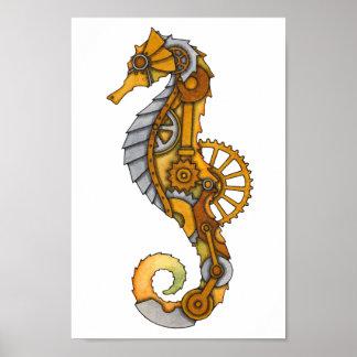 Steampunk Seahorse Poster