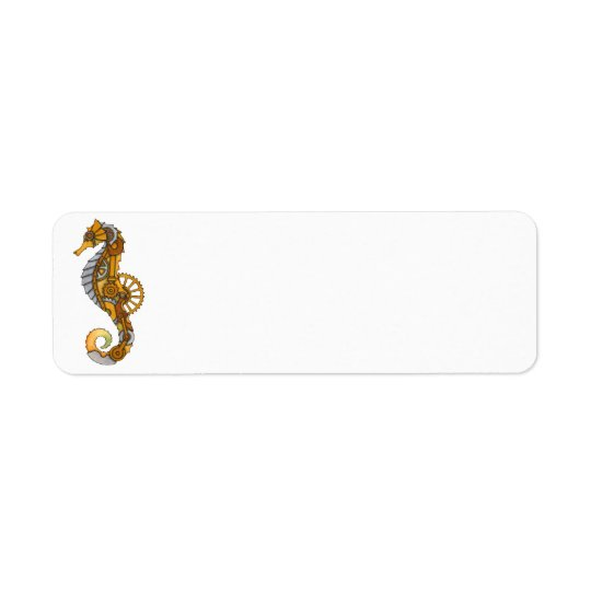 Steampunk Seahorse Return Address Label