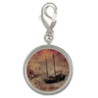 Steampunk Ship Fantasy Traveller Bracelet Charm