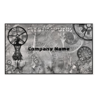 Steampunk Silver Business Cards
