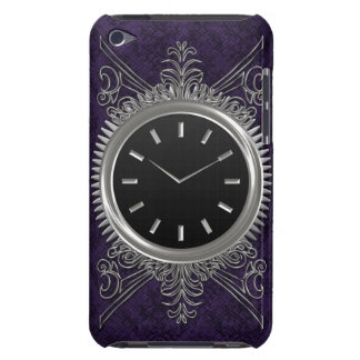 Steampunk Silver Metal Clock Barely There iPod Cover