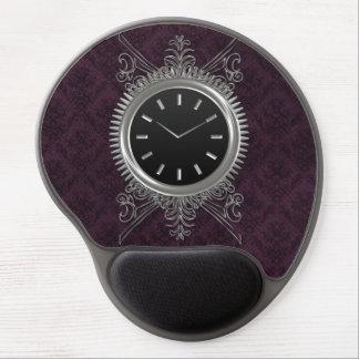 Steampunk Silver Metal Clock Gel Mouse Pad
