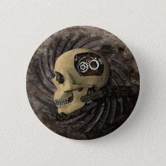 Steampunk Skull 6 Cm Round Badge
