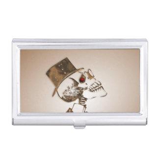 Steampunk Skull Business Card Holder