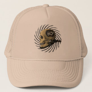 Steampunk Skull Trucker Hat