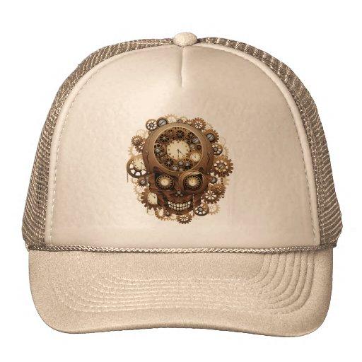 Steampunk Skull Vintage Style Mesh Hats
