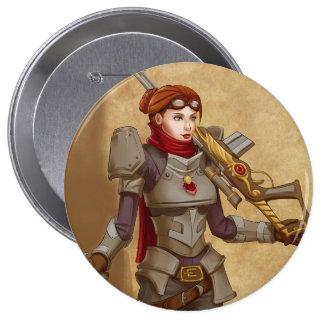 Steampunk Soldier 10 Cm Round Badge