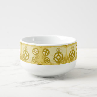 Steampunk soup mug