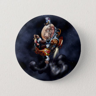 Steampunk Space Chimp 6 Cm Round Badge