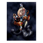 Steampunk Space Chimp Post Cards