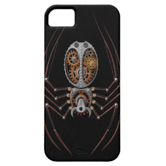 Steampunk Spider, black background iPhone 5 Cover