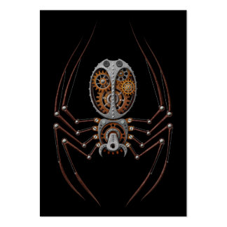 Steampunk Spider, black background Pack Of Chubby Business Cards