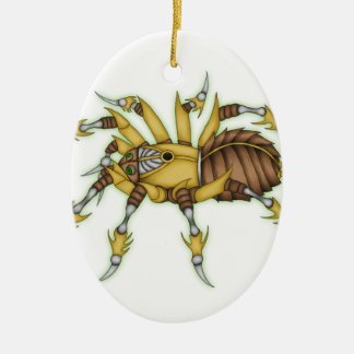 steampunk spider ceramic oval decoration