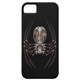 Steampunk Spider on Black Barely There iPhone 5 Case