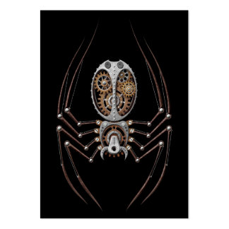 Steampunk Spider on Black Pack Of Chubby Business Cards