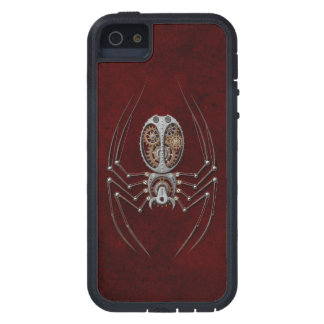 Steampunk Spider on Deep Red iPhone 5 Cover