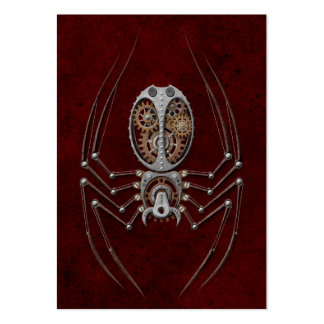 Steampunk Spider on Deep Red Pack Of Chubby Business Cards