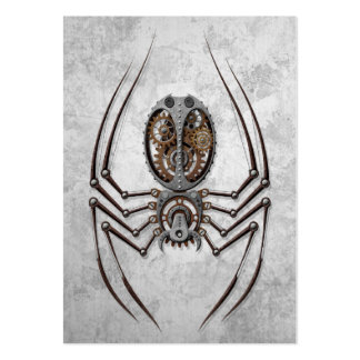 Steampunk Spider on Rough Steel Pack Of Chubby Business Cards