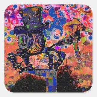 Steampunk Spider Square Sticker
