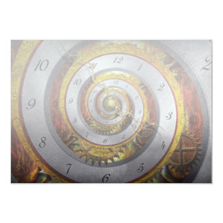 Steampunk - Spiral - Infinite time 13 Cm X 18 Cm Invitation Card