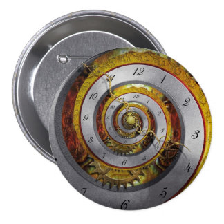 Steampunk - Spiral - Infinite time 7.5 Cm Round Badge