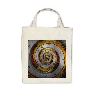 Steampunk - Spiral - Infinite time Canvas Bags