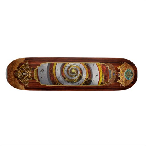 Steampunk - Spiral - Infinite time Custom Skateboard