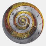 Steampunk - Spiral - Infinite time Round Stickers