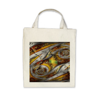 Steampunk - Spiral - Space time continuum Canvas Bags