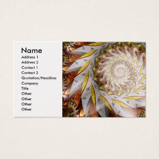 Steampunk - Spiral - Time Iris Business Card