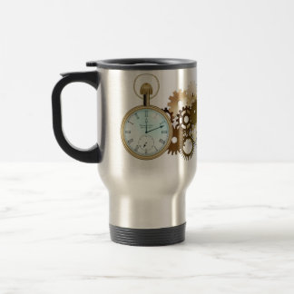 Steampunk Stainless Steel Travel Mug