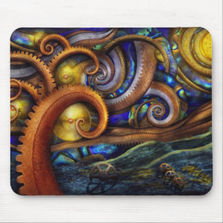 Steampunk - Starry night Mouse Mat