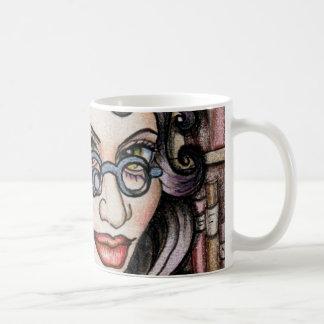 Steampunk Steamface Librarian Coffee Mug