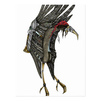 Steampunk Stork Postcard