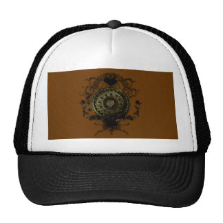 Steampunk stud art design mesh hats