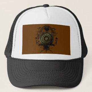Steampunk stud art design trucker hat