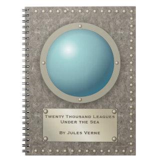 Steampunk submarine hublot notebook