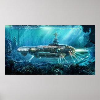 Steampunk Submarine Poster